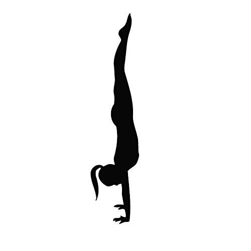 Quszpm Etiqueta de la Pared del Dormitorio Invertida de Las señoras Etiqueta de la Pared del Gimnasio Etiqueta de la Pared de los Deportes 38x166cm