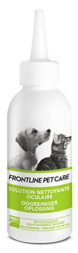 FRONTLINE PET CARE - Soin yeux chien chat - Nettoyant yeux - 125ml