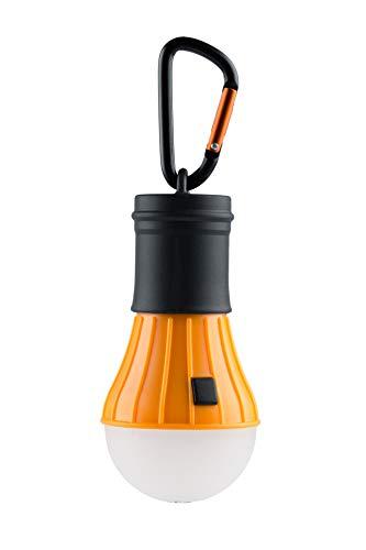 AceCamp LED Campinglampe, Zeltlampe inkl. Batterien und Karabiner, Notlicht, Wasserdicht, 40 Lumen, 4 Leuchtmodi, Orange Schwarz, 1028-ace