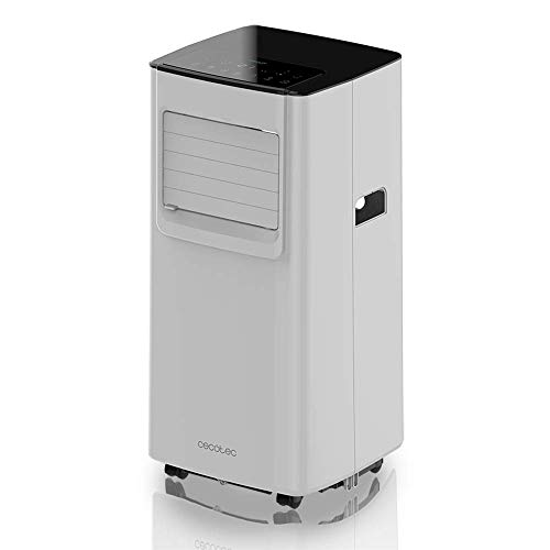 Cecotec Aire Acondicionado 3 en 1 Portatil ForceClima 7050. Refrigeración, ventilación y deshumidificación. Ultrasilencioso. 7000 BTU. 300 m³/h. Pantalla. Temporizador 24 h. Mando a Distancia.