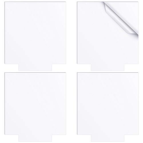 4 Pieces Clear Acrylic Sheets 4mm Thick Plastic Acrylic Panel Transparent Acrylic Board with Protective Paper for LED Light Bases Signs DIY Crafts