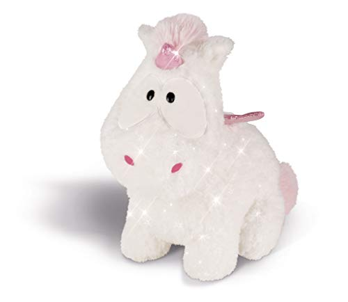 NICI 43256 Kuscheltier Einhorn-Baby Theofina, 26 cm, weiß/rosa