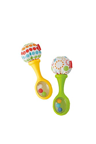 Fisher-Price Le Maracas per Neonati con Impugnature Soffici, Rafforza le Capacità Motorie e Sensoriali, Giocattolo per Bambini di 3 + Mesi, BLT33
