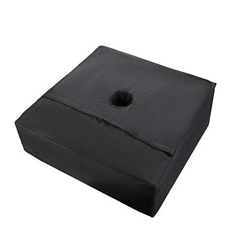 Bolsa de Peso de Base de sombrilla Cuadrada 18'- Base de Patio para sombrilla, Soporte de Bastidor de sombrilla de Base de Bolsa de Arena Resistente para Exteriores, terraza, Playa, hasta 110 Libras