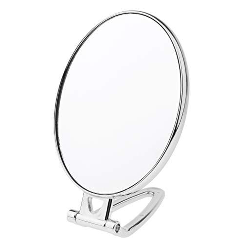B Blesiya Miroir Compacts de Voyage Miroir Cosmétique pour Table ou Bureau ou Pour Voyage - Rond Argent
