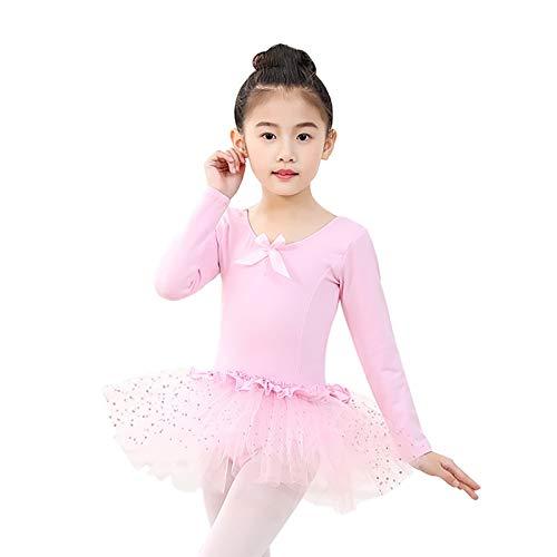 HeroStore Hot Long Sleeved Gymnastics Leotard Ballet Dancing Dress s Bowknot Dance Wear with Dots Skirt