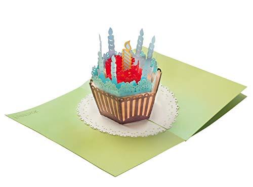 Geburtstagskarte mit extra Seite für Grüße - überraschende Gratulationskarte für Jubiläum Geburtstag & als Glückwunschkarte - hochwertige 3D Pop-Up Karte für Glückwunsch & Gratulation