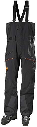 Helly-Hansen Mens SOGN Waterproof Ski and Snowboard Bib Pant, 991 Black, Large