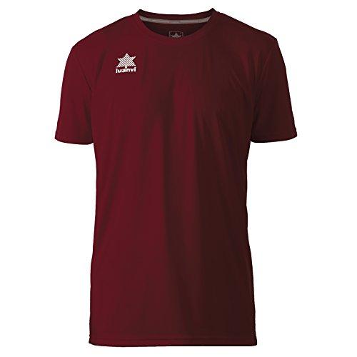 Luanvi Pol Camiseta de Deportes Manga Corta, Hombre, Granate, S