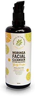 Miracle In The Green Moringa Facial Cleanser - Gentle Face Wash with Moringa Oil + Aloe Vera, Suitable for All Skin Types ...