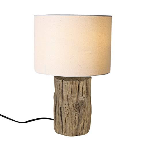 Casablanca lamp boomstam natuur/crème, poly (BxHxD) 35 x cm