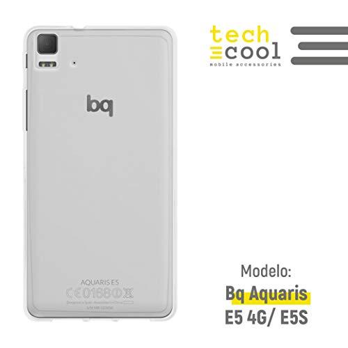 Funnytech® Funda Transparente para BQ Aquaris E5 4G / E5S [Gel Silicona Flexible] [Ultra Slim 1,5mm]