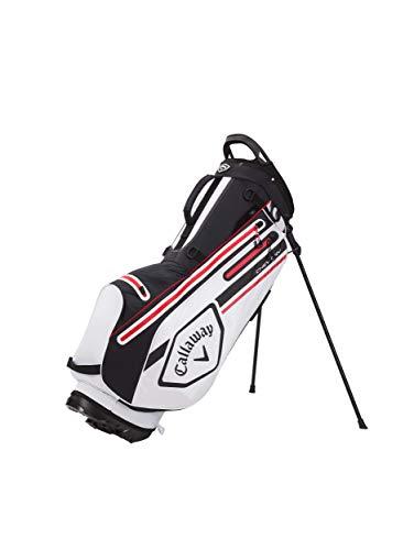 Callaway Golf- Bolsa trípode Chev Dry 2021, Color Negro, Blanco y Fuego