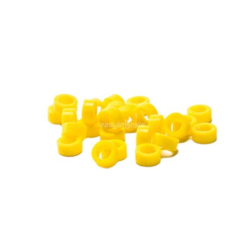 Easyinsmile Dental Hygienist Instrument Silicone Color Code Rings 25 Pcs (L, Yellow)