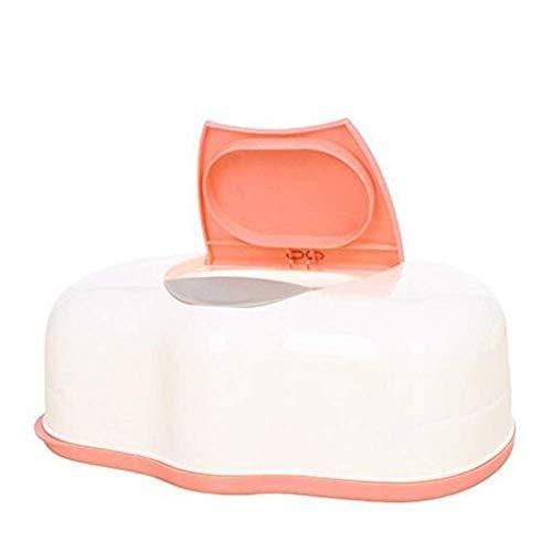 Ogquaton Caja de toallitas para bebés de plástico Caja de pañuelos de Papel húmeda Dispensador automático de toallitas Accesorios para Porta pañuelos de hogar Color Aleatorio Duradero y útil