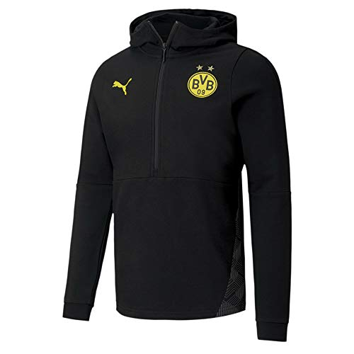 PUMA BVB Casuals Fußball Hoodie Puma Black L