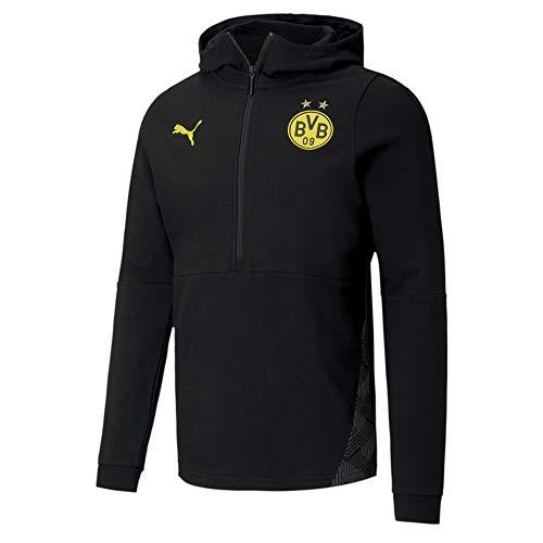 PUMA BVB Casuals Fußball Hoodie Puma Black S