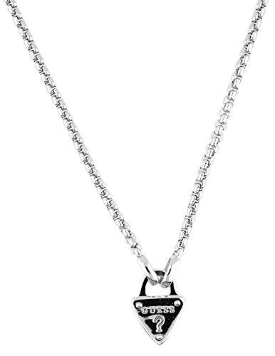 Guess Damen-Kette mit Anhänger The Secret Key Halskette Edelstahl 45 cm-UBN21552