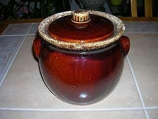 Hull Pottery Brown Drip Sugar/ Cookie Jar