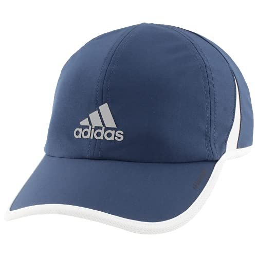 adidas Men's Superlite Relaxed Adjustable Performance Cap, Crew Navy/White/Silver Reflective, One Size