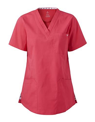 MEDANTA Sulo Damen Kasack Claret Korallen Rot Rosa S- medizinische Berufsbekleidung, Pflege, Kosmetik Kittel, OP Kleidung