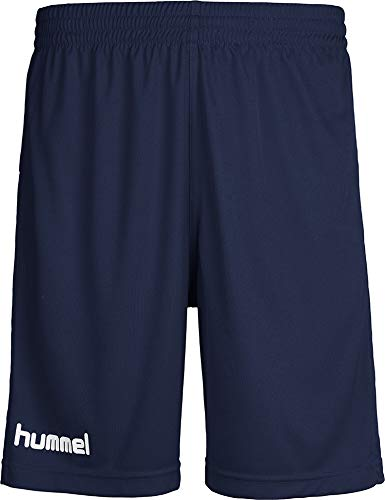 hummel Jungen Sporthose Kurz-Core Poly Shorts-Trainingshose Herren Hohe Bewegungsfreiheit-Laufshorts, Marine Pr, 116-128 (S)