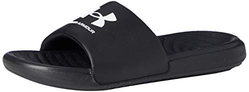 Under Armour Women's Ansa Fix Slide Sandal, Black (004)/Black, 10