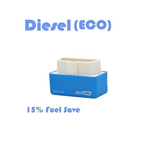 takestop Módulo adicional universal OBD2 Eco Azul Centralita Ahorro Diesel Diésel Dispositivo Optimización Regula Combustible Potencia Chip Tuning para Coche Coche Coche