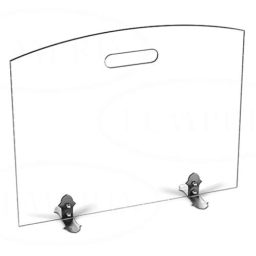 Stufa a Legna in vetro Parascintille Parascintille scintille protezione Griglia di sicurezza temprix | 540X 600X 6mm (L x A x P)