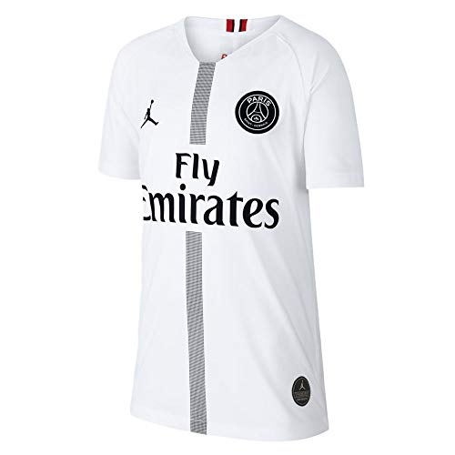 Jordan Youth Paris Saint-Germain 18/19 Breathe Stadium White Third Replica Jeresy (L, White)