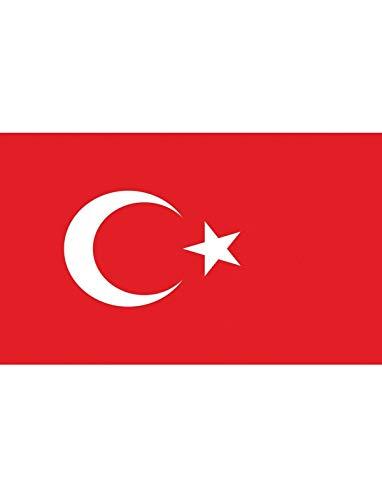 """TrendClub100® Fahne Flagge """"Türkei Turkey TR"""" - 150x90 cm / 90x150cm"""