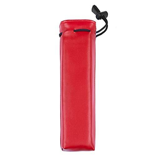 Dmtrab para Para Galaxy Buds/Airpods Bolso Protector de Almacenamiento de Auriculares Bluetooth inalámbrico Universal (Negro) (Color : Red)