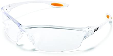 Crews LW210AF Law 2 Safety Glasses Clear w/Clear Anti-Fog Lens (12 Pair) by Crews