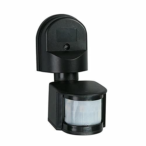 ATING Interruptor de sensor PIR ajustable, IP44 resistente al agua PIR cuerpo movimiento infrarrojo sensor detector de bombilla, interruptor detector de movimiento de 180 grados