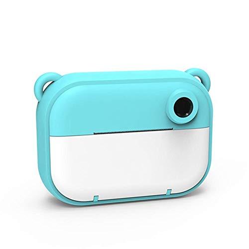MHOLR Kinderdigitalkamera, 2,4-Zoll-Kinder-Mini-Digitalkamera Eingestellt 1080P 1200W DIY Fotodruck Videokamera Camcorder, Für Kinder Geeignet,Blau