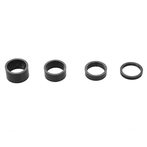 TOOGOO(R) Fahrrad Carbon Spacer Schwarz A-head 1-1/8″ Zoll Carbonspacer 5/10/15/20mm Set - 2