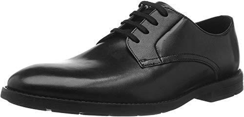 Clarks Ronnie Walk, Zapatos de Cordones Derby para Hombre, Piel Negra, 41.5 EU