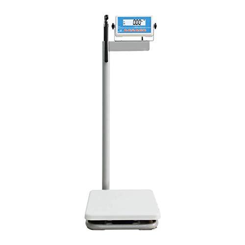 YYAI-HHJU Báscula Médica Digital, Báscula Electrónica De Peso Y Altura, con Varilla De Altura, Cabezal De Instrumento Giratorio De 90 Grados, Báscula De Baño Digital, 200 Kg