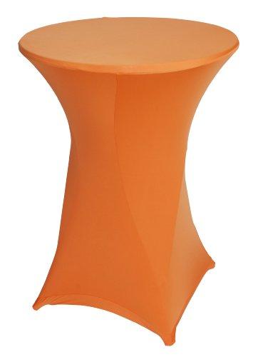gartenmoebel-einkauf Basic Stretchhusse für Stehtisch bis 80cm, orange