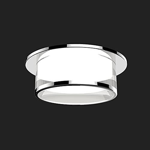GLBS 5W/7W/9W/12W Plata Three-Color Dimagen LED Downlight Corridor por PORRIZADO LUZ Empotrable Iluminación Aluminio Acrílico Hogar Carril Comercial Luz De Panel (Color : 12W, Size : Natural Light)