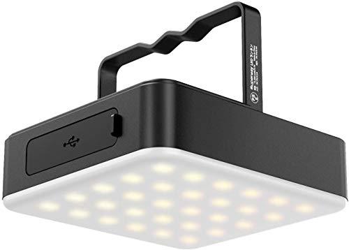 Hasey Lámpara de camping, 13400 mAh, recargable, LED, linterna de camping con 100 luminosidades, regulable sin niveles, material de aluminio