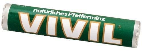 Vivil Pastillen Vivil Pfefferminz Bonbonrolle mit Zucker 29g