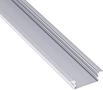 Jandei - Perfil Aluminio Tira led 2 Metros empotrar 23,3 * 9,7mm con Tapa