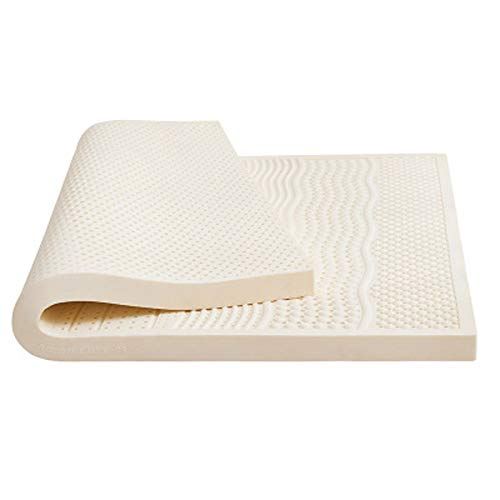 PHGo Bedding Natural Latex Mattress, Full Size Cooling-gel Memory Foam Mattress Bed Non-toxic Organic Relief with Breathable Soft, Medium Firm Feel,white