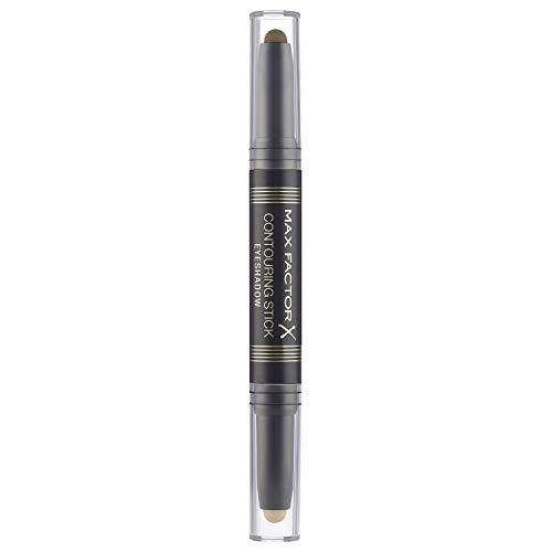 Max Factor Contouring Stick Eyeshadow Warm Taupe & Amber Brown – Lidschattenstift mit zwei warmen Erdtönen für einen gelungenen Augenaufschlag – Mit cremiger Textur