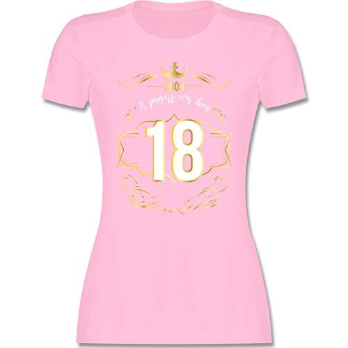 Geburtstag - 18 Geburtstag Prinzessin Mädchen 2003 - L - Rosa - Geschenk 18 Geburtstag Tochter - L191 - Tailliertes Tshirt für Damen und Frauen T-Shirt