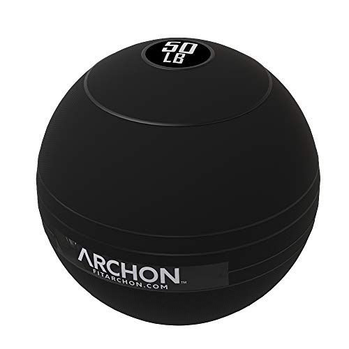 ARCHON Training Slam Ball 50 LB | No Bounce Exercise Ball | Gym Equipment Accessories | Plyometric Exercise | Cardio | Jam Ball | Squats | Medicine Ball 50 LBS