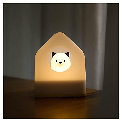 GGFF Cargador De Luz Nocturna USB Satsuma De Doble Propósito, Luz Cálida Regulable, Lámpara De Atmósfera para Dormir, Dormitorio Femenino, Lámpara De Noche