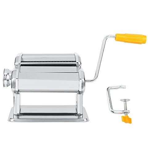 Huishoudelijke Pasta Noodle Cutter Roller RVS Handmatig, Verse Pasta Maken Machine Deegroller voor Spaghetti en Lasagna Tagliatelle Dumplings Fettuccine, 2 Blades