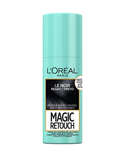 LOréal Paris Magic Retouch Spray Retoca Raices y Canas para Pelo Negro - 75 ml